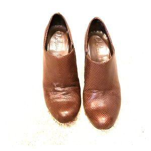Size 9 brown cole haan nike air booties